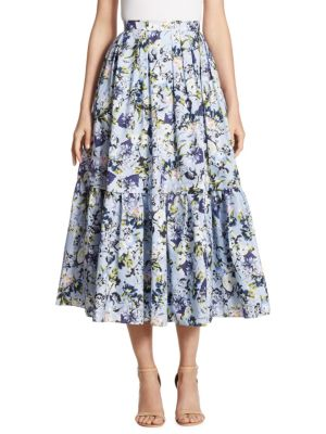 Leigh Floral-Print Skirt