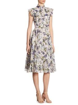 Buy Erdem Reba Ruffled Floral-Print Silk Dress online with Australia wide shipping