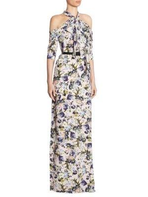 Annaliese Floral Silk Gown