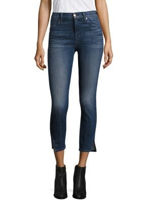 Alana High-Rise Cropped Slit Skinny Jeans/Cover