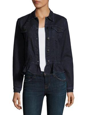 Ruffled Denim Jacket