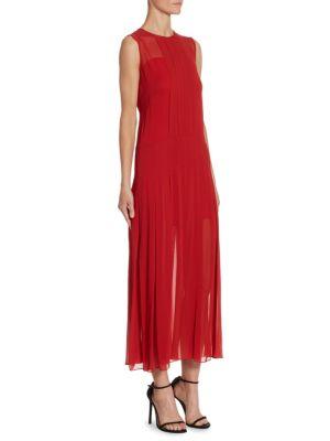 Box-Pleat Slip Dress