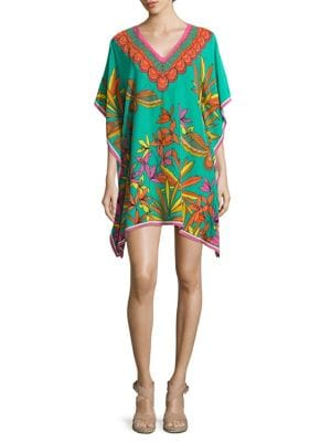 Theodora Silk Caftan Dress