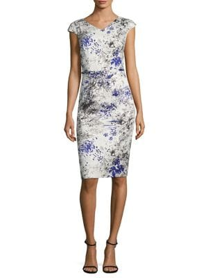 Printed Cotton Sheath Dress