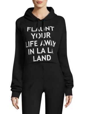 Cropped Graphic Hooded Sweatshirt by EACH X OTHER