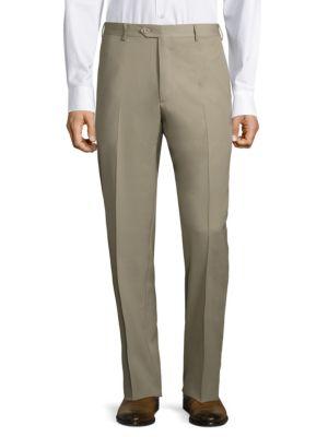 Super 130's Regular-Fit Gabardine Trousers