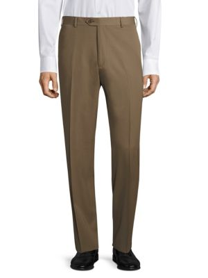 Super 130's Regular-Fit Gabardine Trousers