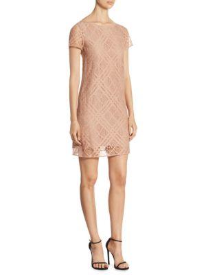 Liberty Check Lace Dress
