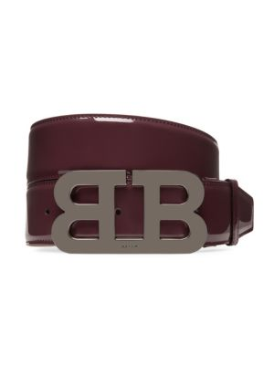 Mirror B Leather Belt