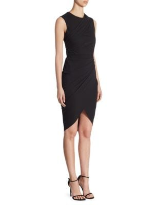 Ruched Hi-Lo Dress