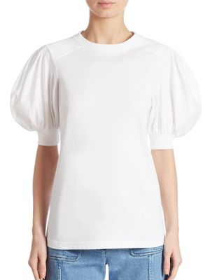 Puff Sleeve Cotton Tee