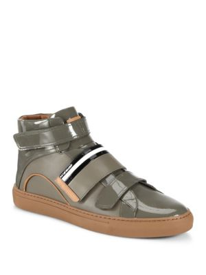 BALLY Leather High-Top Sneakers