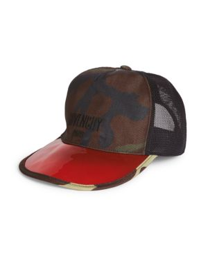 GIVENCHY Abstract Print Cap in Multicolor