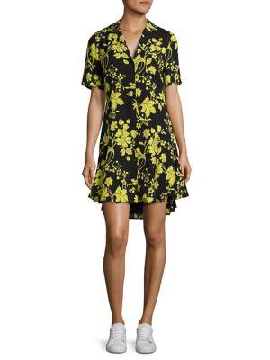 Kayden Floral-Print Silk Shirtdress