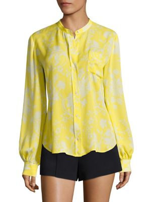 Walter Floral-Print Silk Blouse