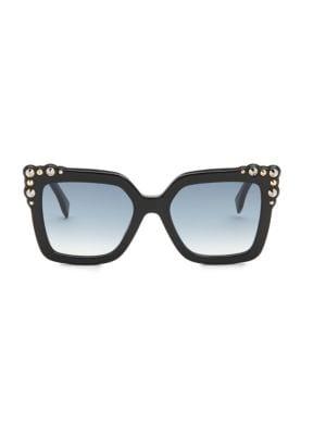 52MM Crystal-Embellished Square Sunglasses