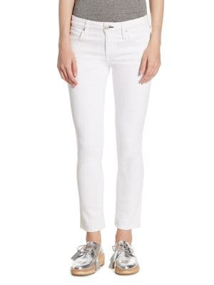 Bow Back Zip-Cuff Cropped Skinny Jeans