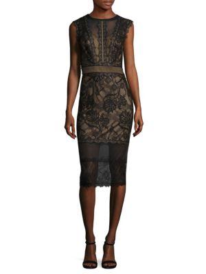 Sleeveless Illusion Lace Dress