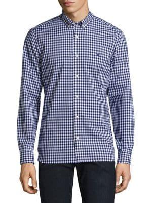 Stopford Button-Down Gingham Cotton Shirt
