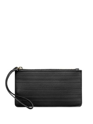 GRAPHIC IMAGE Pebbled Leather Wristlet