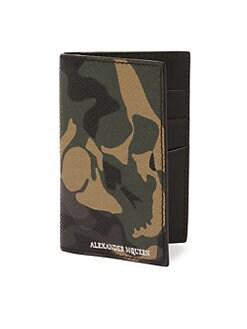 designer wallet with money clip q42a  Alexander McQueen