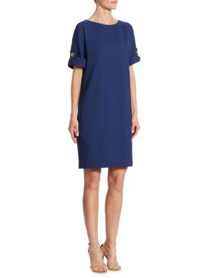 Turnlock Sleeve Shift Dress by Badgley Mischka