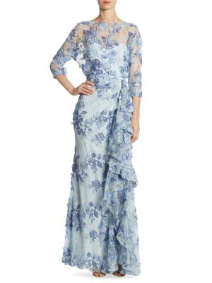 Buy Badgley Mischka Ruffled Lace Gown online with Australia wide shipping