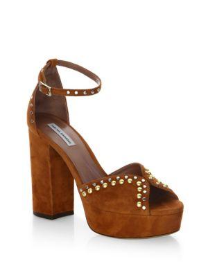 Julieta Studs Suede Ankle-Strap Sandals