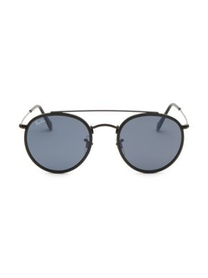 RB3647 51MM Round Aviator Sunglasses