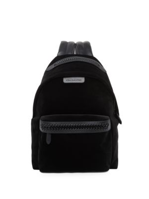 Falabella Medium Velvet & Faux Leather Backpack