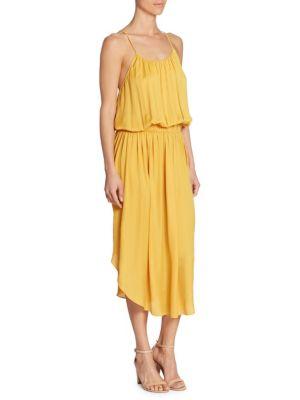 Sleeveless Shirred Jersey Midi Dress