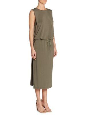 Sleeveless Round Neck Jersey Dress