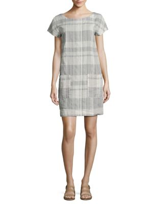 Plaid Organic Linen & Organic Cotton Dress