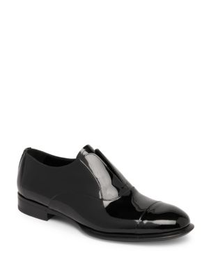 Patent Laceless Slip-On Shoes