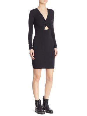 Twist-Front Cutout Dress
