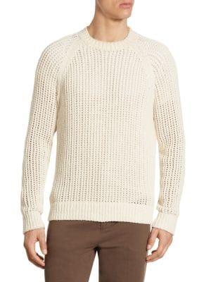 Regular-Fit Open Weave Crew Sweater