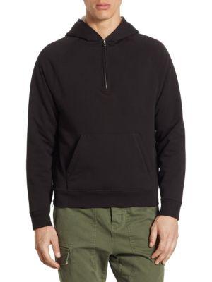 Regular-Fit Sherpa Half Zip Hooded Jacket