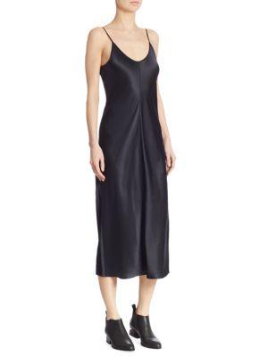 Silk Midi Slip Dress