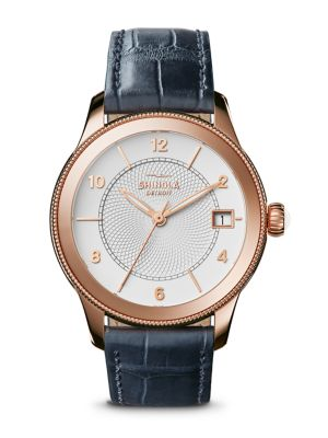 The Gail PVD Rose Gold & Alligator Strap Watch