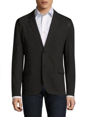 Alton Slim-Fit Button-Front Blazer