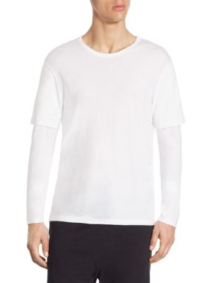 Regular-Fit Double Layer Sleeve Tee
