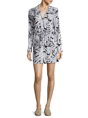 Emmanuelle Floral-Print Silk Shirtdress