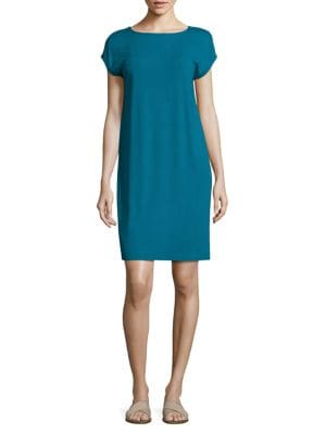 Cap Sleeve Jersey Shift Dress