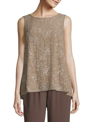 Beaded Silk Top