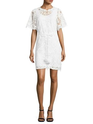 Teri Tie-Front Lace Dress