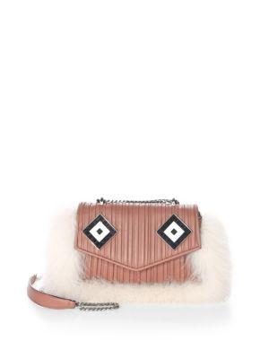 Ivy Mask Fox Fur & Leather Shoulder Bag