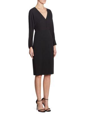 Silk V-Neck Jersey Dress