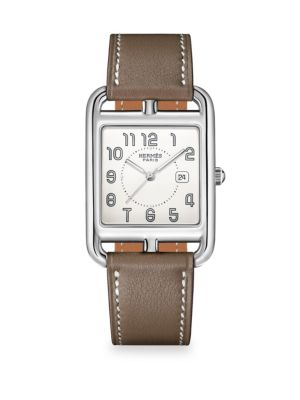 Cape Cod Stainless Steel & Leather Strap Watch