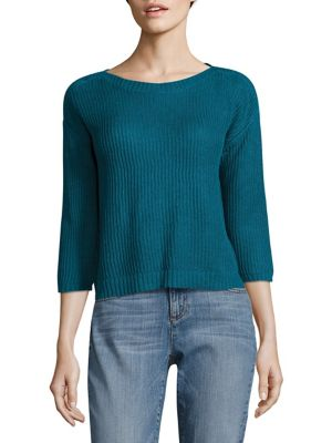 Rib-Knit Organic Linen Box Top