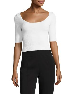 Maisy Textured Cropped Top by Elizabeth and James